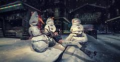 URBAN JUNGLE Winter 2019 Photo Contest (Dragonlila * Black Cats poses owner *) Tags: snowmen attack black cats poses winter horror urban jungle contest
