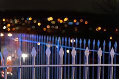 Fence Friday (jillyspoon) Tags: fence fencefridays friday railings lights bokeh happyfencefriday metal svr fencedfriday