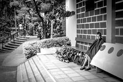 Alone (Carmen Plà) Tags: photography photo photographer portrait picture people canon colombia camera canon600d city sigma summer travel street blackandwhite blancoynegro women