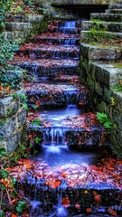 Keston Ponds Waterstairs (matravenphotography) Tags: bromley keston kent river waterfall water nature longexposure