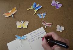 Carta de despedida (Márcia Valle) Tags: letter carta goodbye adeus despedida cartão butterfly hand mão butterflies art arte márciavalle nikon d5100