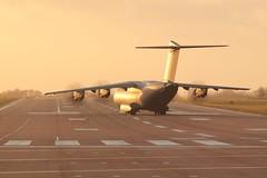 Atlas C1 departing RAF Brize Norton in a winter sunset . (Bob Symes) Tags: sunset a400m atlas atlasc1 bzz raf turboprop
