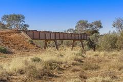 DSC09596 (slackest2) Tags: railway oodnadatta track south australia bush outback box creek ghan bridge old sleepers wooden metal blue sky trees