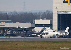 Air Harrods Ltd. S-92A G-LAWX & EC-155B1 A7-HMD (birrlad) Tags: stansted stn airport london uk aircraft aviation airplane airplanes helicopter chopper glawx sikorsky s92a s92 air harrods ltd a7hmd eurocopter ec155b1 ec55