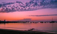 Ibiza at dusk (ORIONSM) Tags: ibiza sunset dusk water clouds golden hour reflection spain balearics natuer landscape scnery vista view santantonideportmany tz100 panasonic lumix