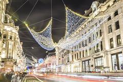 20191213_F0001: Christmas angel wings (wfxue) Tags: london regentstreet city centre light christmas decorations evening night trails traffic buildings people street angels wings longexposure
