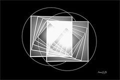 Geometry Five Squares 01 (astrochemist2003) Tags: geometry squares photoshop circles black white paper photography mode gradients blend linear light mat board bevel cuts