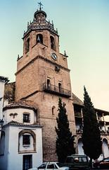 Slides October 1991, Ronda, Spain (alh1) Tags: box22 box227 kodachrome64 15101991 1991 october ronda copies film slides transparencies church tower