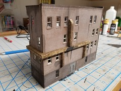 INSTALLED (Set and Centered) Tags: ho scale model railroad railroading train custom ventilation building structure diy 187 jssx railway blog inspiration