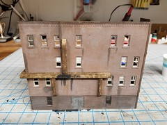 EXTERIOR DUCTING, WEATHERED (Set and Centered) Tags: ho scale model railroad railroading train custom ventilation building structure diy 187