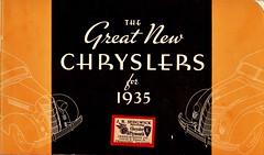 The Great New Chryslers for 1935 (Jasperdo) Tags: brochure pamphlet chrysler automobile car vehicle jrsedgwick greerrobbinsco