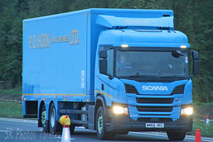 Scania P320 PD Hook WM68 HRZ (SR Photos Torksey) Tags: transport truck haulage hgv lorry lgv logistics road commercial vehicle freight traffic scania p320 hook