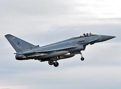 ZK334 (np1991) Tags: royal air force raf lossiemouth lossie moray scotland united kingdom uk nikon digital slr dslr d7200 camera nikor 70200mm vibration reduction vr f28 lens aviation planes aircraft eurofighter typhoon fgr4 70 years nato badge 1949 2019