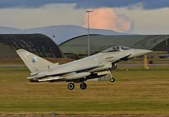 ZK324 (np1991) Tags: royal air force raf lossiemouth lossie moray scotland united kingdom uk nikon digital slr dslr d7200 camera nikor 70200mm vibration reduction vr f28 lens aviation planes aircraft eurofighter typhoon fgr4 70 years nato badge 1949 2019