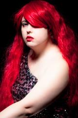 _MG_8333 (phreddyy) Tags: model girl woman red redhair portrait amy glam lurex glamour sexy pretty nice beautiful fun shoot strobist canon canon5dmkii 5d2 witstro godox ad360