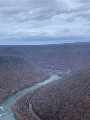 new river gorge clouds (GAWV) Tags: relieghcounty beckly westvirginia newrivergorge clouds fog alleghenymountains newriver cold rain view mountaintop