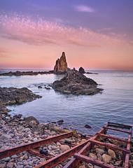 Misterios de sirenas. (mariacabo65) Tags: rocas playa embarcadero mar cabodegata almería españa