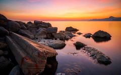 About stones and the sea ... (zaxarou77) Tags: sunset sea color landscape red orange nature water stone russia outdoor sony crimea a7 markii carlzeiss ilce a7m2 a7mii fe sel 1635 t mm za f4 oss variotessar sel1635z ilce7m2