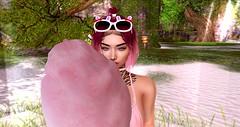 Cotton Candy Girl (Alexa_SL) Tags: secondlife virtualgirls secretbeach genus amarabeauty beach drinks candy pool
