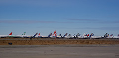 On the Ground and Dreaming of the Sky (jlevinger) Tags: airport planes aviation desert mojave