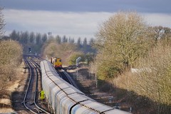 Being Held (JohnGreyTurner) Tags: br rail uk railway train transport diesel engine locomotive freight drs 20 class20 type1 ee1 ee english electric hnrc rhtt brocklesby chopper biomass lincolnshire