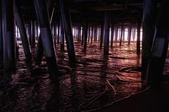 Below the pier (BrianEden) Tags: california under sunset pier losangeles beach evening santamonica la