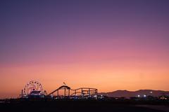 Santa Monica Pier at sunset (BrianEden) Tags: evening losangeles santamonica beach pier sunset california la