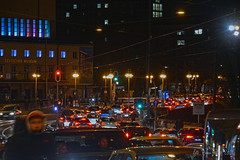 Ludwigsbrücke - München (Bana Peter) Tags: munich münchen traffic bana nikon d5200 bayern deutschland gasteig ludwigsbrücke cars lights dezember december winter deutsches museum