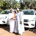Remise de véhicules aux Conseils régionaux de Koulikoro et de Sikasso par madame Traoré Seynabou Diop, Ministre des Infrastructures et de l´Equipement, dans le cadre du projet d´Améliorsation de l´Accessibilité Rurale (PAAR). Crédit photo © Boub