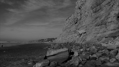 Landslide (Rand Luv'n Life) Tags: odc our daily challenge torrey pines state beach rock landslide cliff rocks clouds landscape monochrome outdoor black white