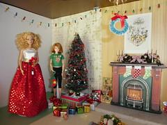 Christmas diorama (jarmie52) Tags: barbie momoko christmas diorama miniatures