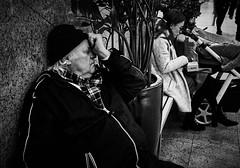 Cogito ergo... (dorjazz) Tags: blackandwhite bnw portrait lenscollective lensculture streetshot streetsnap capturestreet candid streetphotography street