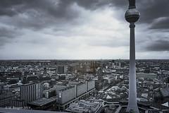 View of Alexanderplatz from the observation deck of the Park Inn Hotel, Berlin (markbangert) Tags: park inn hotel berlin alexanderplatz television tower fuji xt1 infrared infrarot infrarouge 700nm