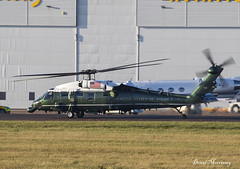 US Marines White Hawk Presidential VH-60N 163264 (birrlad) Tags: stansted stn airport london uk aircraft aviation airplane airplanes helicopter chopper us marines white hawk presidential vh60n 163264 sikorsky president trump nato summit