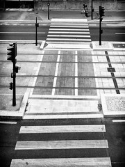 Crossing the lines . (kitchou1 Thanx 4 UR Visits Coms+Faves.) Tags: france paris street people city bw europe exterior world nb
