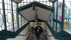 upside down (Mado46) Tags: bxl06 mado46 berlin ubahn u treppe stairs station bahnhof underground gleisdreieck man mann children kinder windows fenster lampen lamps 777v7f