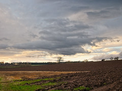 Ploughed (Zog the Frog) Tags: red skies land landscape field ploughed earth