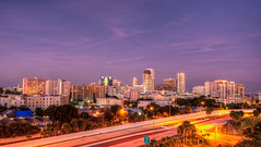Blue Hour at St. Petersburg, Florida (ap0013) Tags: bluehour night sunset stpetersburg saint petersburg florida city skyline cityscape urban highway fl