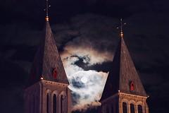 345-020 (mjlockitt) Tags: photojournal skyward scoobydo tournai clouds spires waning moon