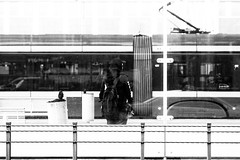 solitude (radek_k_) Tags: street streetphoto streetphotography man people outside tram urban urbanandstreet blackandwhite bnw bw monochrome łódź lodz poland polska olympus omd mzuiko