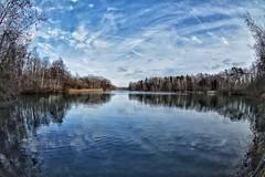 Lake view (ruedigerdr49) Tags: lake water blue panorama sky clouds nature himmel see natur mature weitwinkel fisheye national outdoor