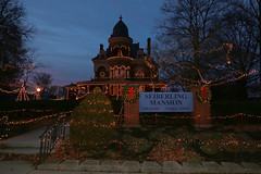Night at the Seiberling (IU Kokomo) Tags: purple seiberling mansion iuk kokomo myiuk open openhouse holiday new year alumni iuaa