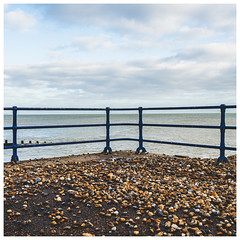 Pebble Beach (Mandy Willard) Tags: beach clouds sea railings pebbles prom eastbourne