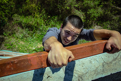 Dude, Help me up! (th3twisted) Tags: dude help me up green nautre rooftop culture parkour free running freerunning leaf photography photo photos photograph 2016