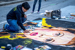 2019 Via Colori Festival (burnt dirt) Tags: houston texas candid documentary street photography downtown city urban metro outdoor people person fujifilm xt3 fujinon 50mm f2 style fashion life real crowd group emotion expression portrait close art artist chalk pastel paint line sidewalk dorothy wizard of oz yellow brick road