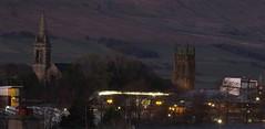 Hills, Spires, Night (byronv2) Tags: glasgow kirkintilloch scotland winter dusk night nuit nacht campsiehills hills geology church kirk tower spire architecture building