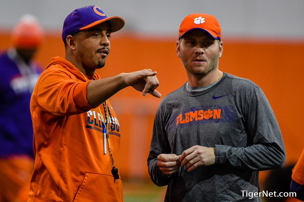 Clemson Photos: Brandon  Streeter, Tony  Elliott, 2019, Football