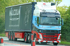 Volvo FH Malcolm Logistics SJ19 OAZ (SR Photos Torksey) Tags: transport truck haulage hgv lorry lgv logistics road commercial vehicle freight traffic volvo fh malcolm
