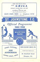 St. Johnstone v Rangers 19711106 (tcbuzz) Tags: st johnstone football club muirton park perth scotland scottish league programme