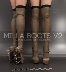 Pure Poison: Milla Boots V2 for Wanderlust Weekend, 50L (Shaleene Kenin - Owner of .::Pure Poison::. STORE) Tags: wanderlust wanderlustweekend sale originalmesh purepoison boots studded thighhigh